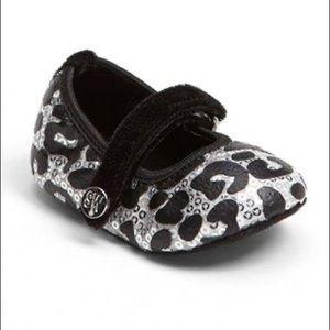 NIB Stuart Weitzman Pali Baby Sequin Shoes Size 3